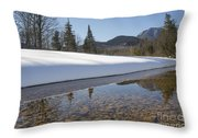 Swift River - Albany New Hampshire Usa Throw Pillow