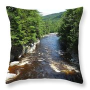 Swift River Below Rocky Gorge New Hampshire White Mountains Throw Pillow