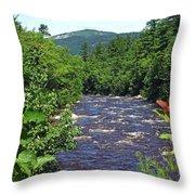 Swift River Mountain View Kancamagus Hwy Nh Throw Pillow