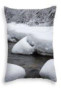 Swift River - White Mountains New Hampshire Usa Throw Pillow