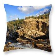 Swiftcurrent Creek Throw Pillow