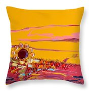 Swiftly Go The Days Throw Pillow