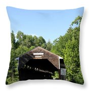 Swiftwater Historic Bridge Throw Pillow