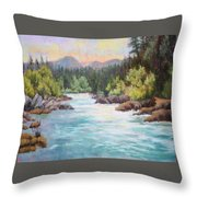 Swiftwater Throw Pillow