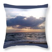 Swim Before Storm Throw Pillow