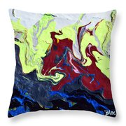 Swim Of The Red Dragon Throw Pillow