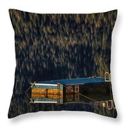 Swim Platform On Lake Quinault Throw Pillow