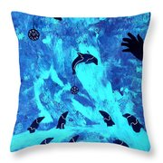 Swim With Me 2011 Throw Pillow