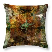 Swimming Against The Tide Throw Pillow