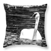 Swimming Beauty Throw Pillow