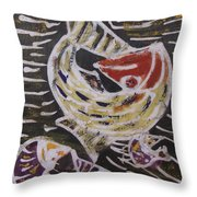 Swimming Fish Inside The Sea River Water Throw Pillow