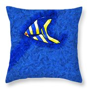Swimming In A Sea Of Sky Throw Pillow