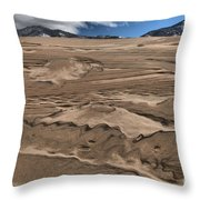 Swimming In The Dunes Throw Pillow