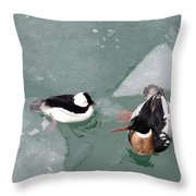 Swimming With Ice Throw Pillow