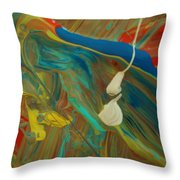 Swimming With The Sharks Throw Pillow