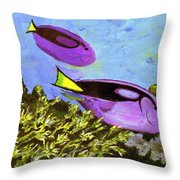 Swimmingly Throw Pillow