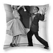 Swing Dancing Couple Throw Pillow