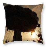 Swing Ride At Sunset Throw Pillow
