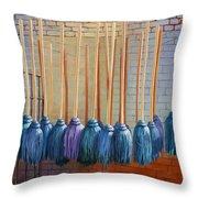 Swinging Blues Throw Pillow