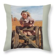 Swinging On A Gate Detail Throw Pillow