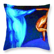 Swinging The Lady Again At The Ball  Throw Pillow