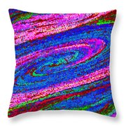 Swirl 101 Throw Pillow