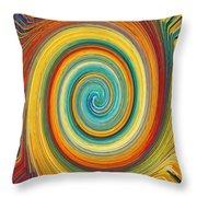 Swirl 82 Throw Pillow