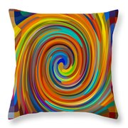 Swirl 83 Throw Pillow