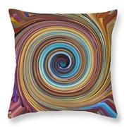 Swirl 85 Throw Pillow