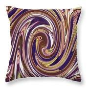 Swirl 88 Throw Pillow
