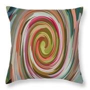 Swirl 92 Throw Pillow