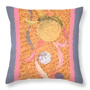 Swirl Body Bubble Person Dancing With Ribbons Twirling Throw Pillow