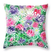 Swirl Dots By Jan Marvin Throw Pillow