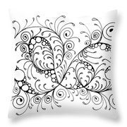 Swirl Haven - Horizontal  Throw Pillow