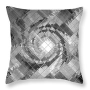 Swirl In A Checkered Mirror V Throw Pillow