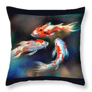 Swirl Of Color Throw Pillow