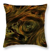 Swirling 2 Throw Pillow