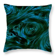 Swirling 3 Throw Pillow