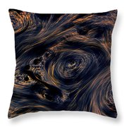 Swirling 4 Throw Pillow