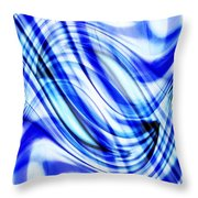 Swirling Abstract Throw Pillow
