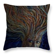 Swirling Beauty Throw Pillow