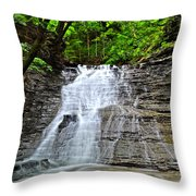Swirling Falls Throw Pillow