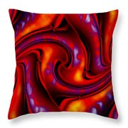 Swirling Fires Throw Pillow