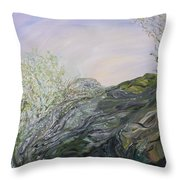 Swirling In Grace Throw Pillow