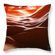 Swirling Layers Of Sandstone Throw Pillow