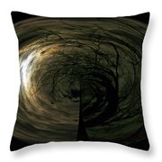 Swirling Moon Throw Pillow