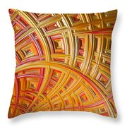 Swirling Rectangles Throw Pillow
