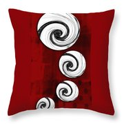 Swirling Round Throw Pillow