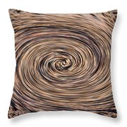 Swirling Sand Throw Pillow
