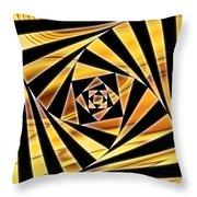Swirling Spirals Throw Pillow